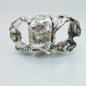 The Rock Ring, Reticulated Sterling Silver