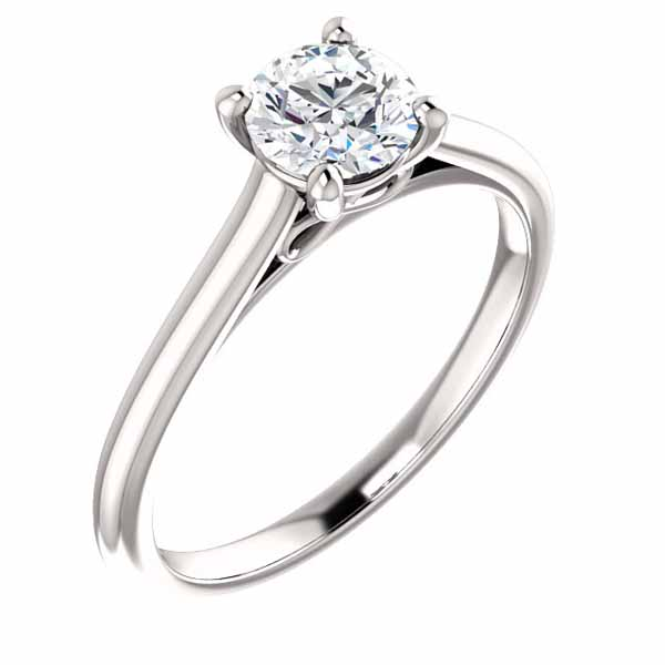 Round Solitaire Infinity-inspired Engagement Ring