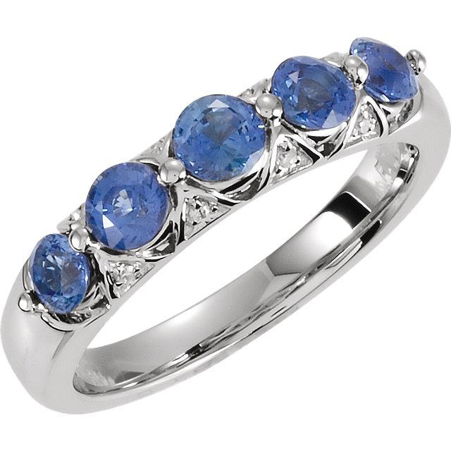 Ceylon Blue Sapphire & Diamond Ring